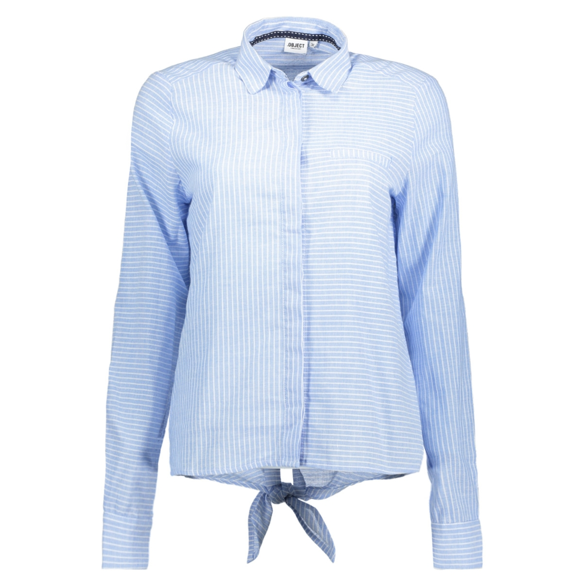objcecilia l/s shirt a ps 23024592 object blouse chambray blue