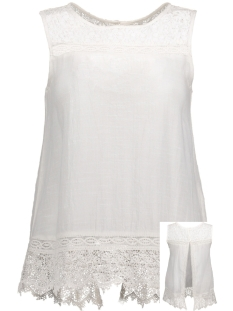 Vila Top VIKALO S/L BUTTON BACK 14042033 Cloud Dancer