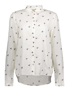 Vila Blouse VIDOVER NEW L/S SHIRT 14044096 Cloud Dancer/Print Comb