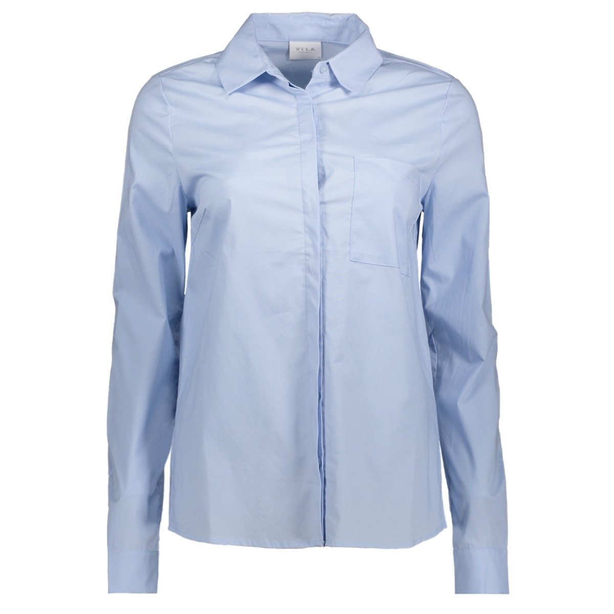 vichau l/s shirt-noos 14039617 vila blouse cashmere blue