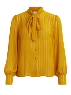 Vila Blouse VIADDIE L/S BOW SHIRT 14042445 Nugget Gold