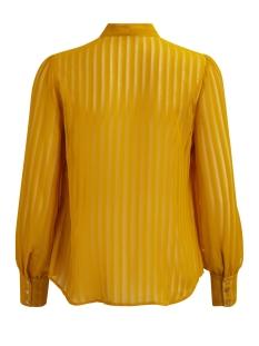 viaddie l/s bow shirt 14042445 vila blouse nugget gold