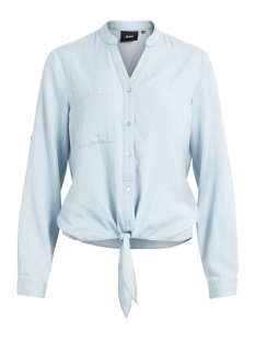 Object Blouse OBJANNSO 3/4 TIE FRONT SHIRT A SO 23026460 Light Blue Denim