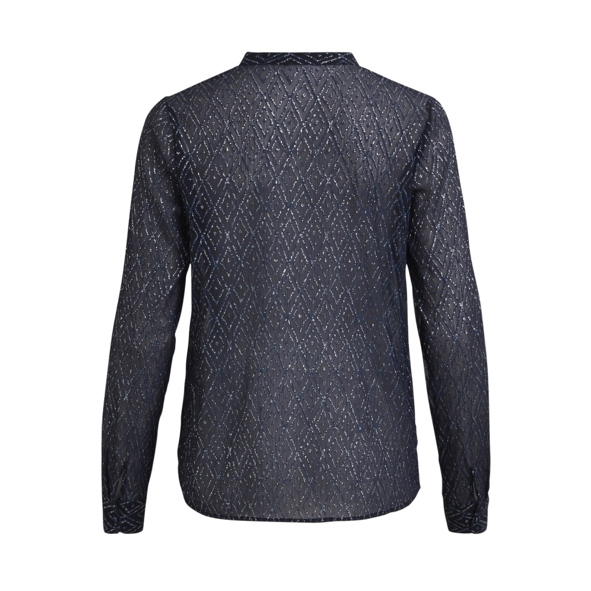 vibello l/s shirt/p 14043654 vila blouse dark navy/vibello pr