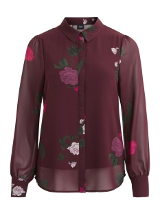 Object Blouse OBJLULU L/S SHIRT 93 23025431 Winetasting