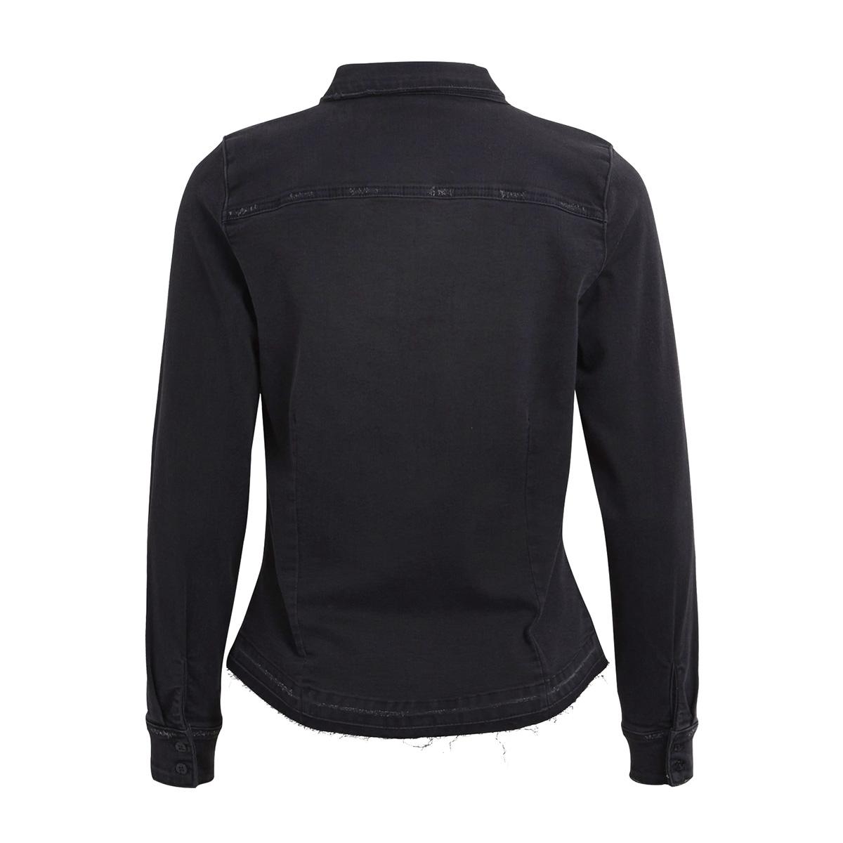 objblack bella denim shirt 93 23025672 object blouse black denim