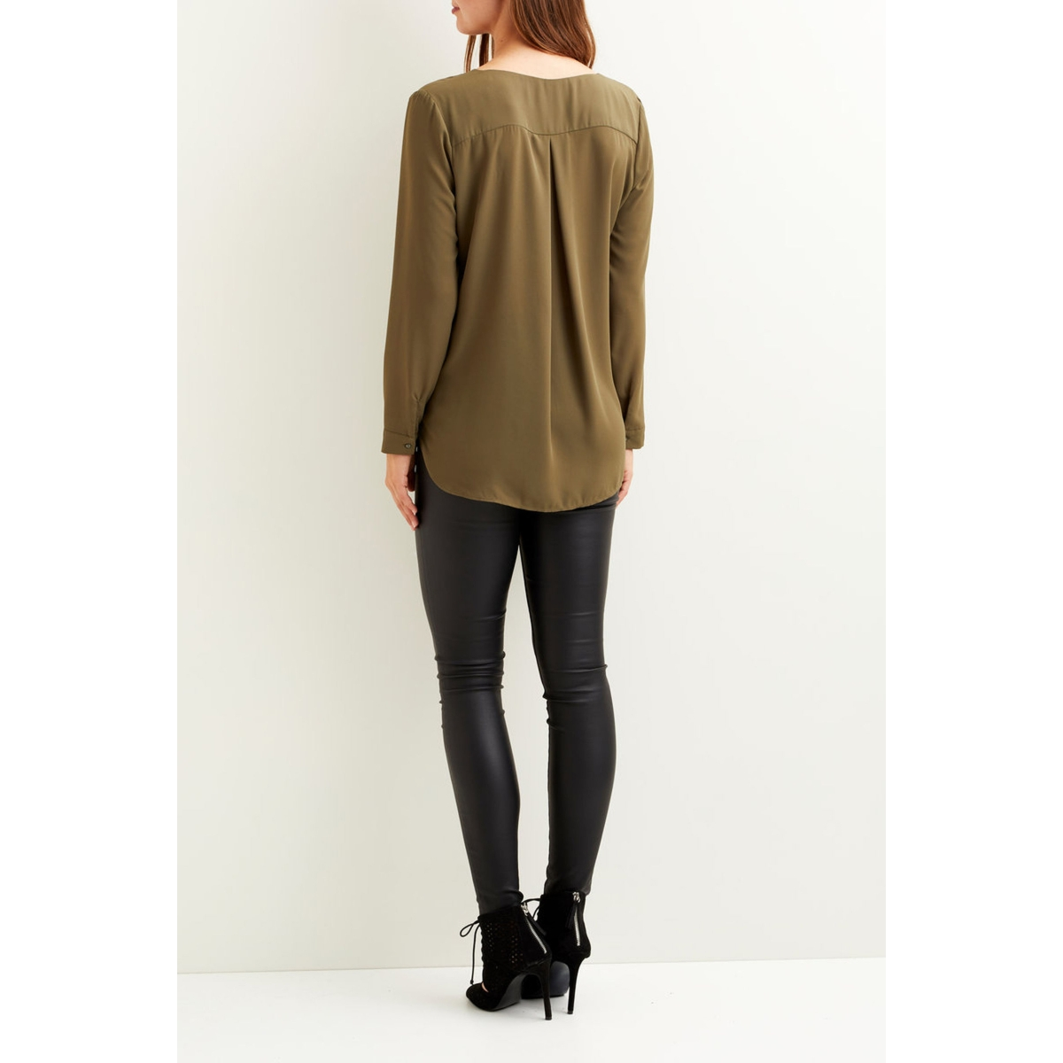 vilucy l/s shirt - noos 14044253 vila blouse ivy green