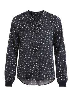 objjagger ls shirt a ny17 div 23026894 object blouse mood indigo/leo(pink