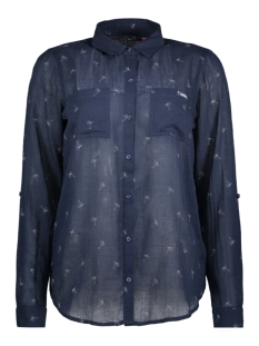 Superdry Blouse G40001AQ 0A9 (Navy Palms)