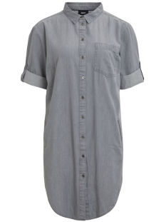Object Jurk OBJJENNA 3/4 SHIRT  DRESS 97 23026783 Light Grey Denim