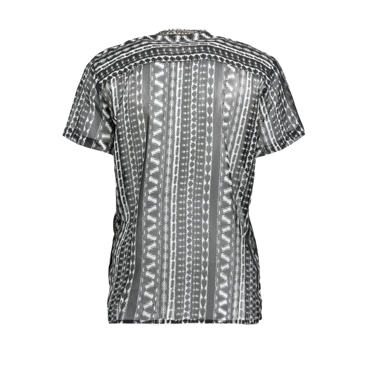 blouse met kralen en tribal print 22001522 sandwich blouse 80041