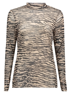 Saint Tropez T-shirt T1517 ZEBRA BLOUSE 0001 BLACK