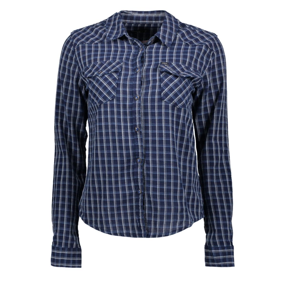 lucinda 10096047414149 ltb blouse indigo sky plaid 51205
