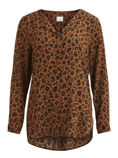 Vila Blouse VILUCY L/S SHIRT - FAV 14044583 Oak Brown/ANIMAL