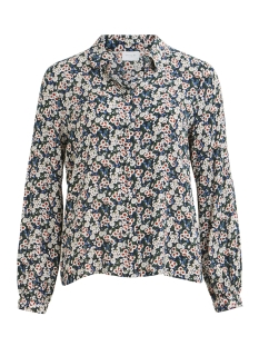 Vila Blouse VILENADA L/S SHIRT /RX 14051983 Dark Navy/FLOWER