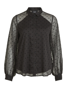 Object Blouse OBJDOTTY LS SHIRT 99 23027644 Black
