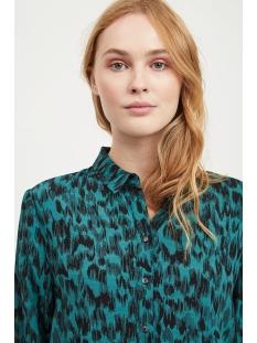 vitanni baini l/s shirt 14049498 vila blouse bayberry/w. black