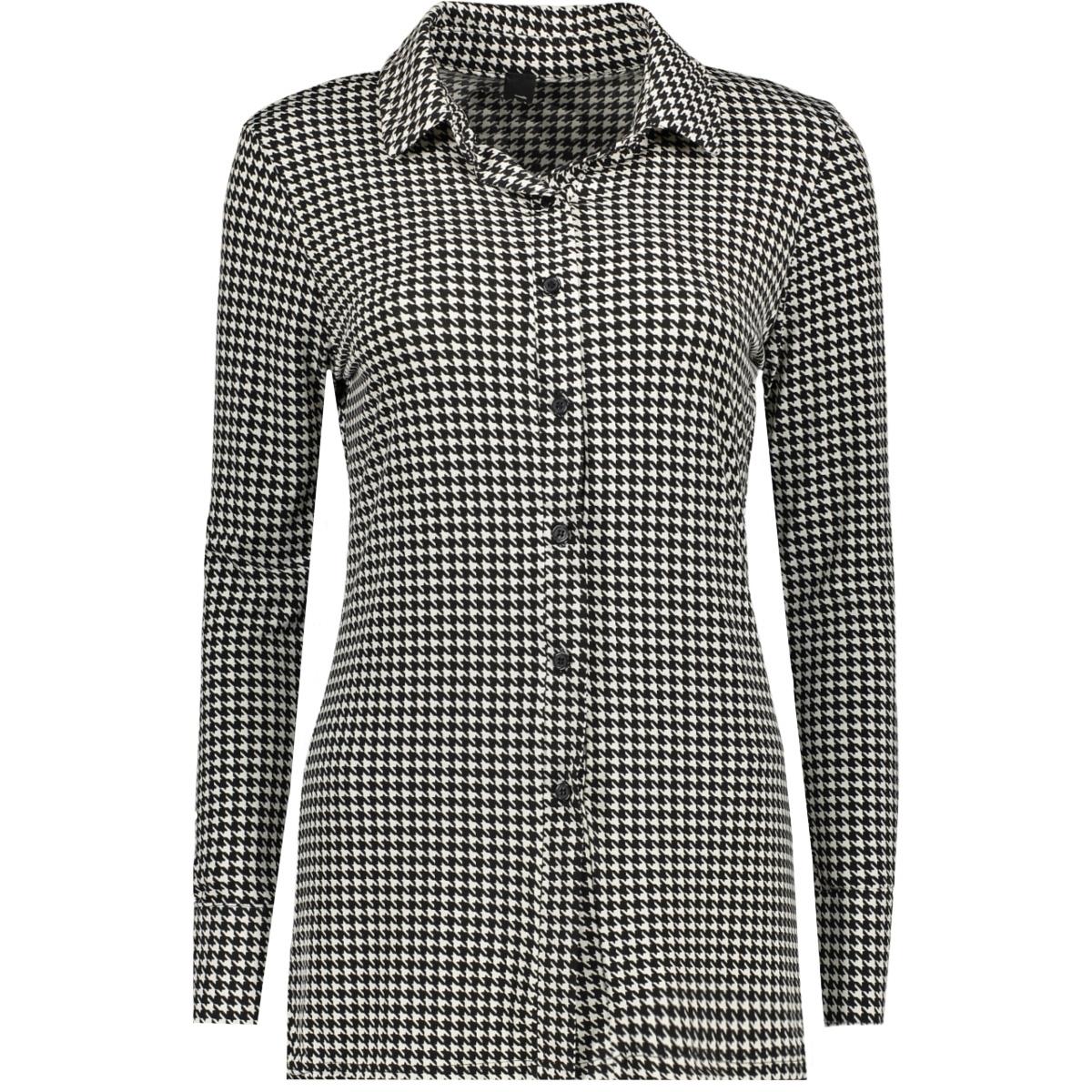 3332 blouse basic iz naiz blouse pied de poule