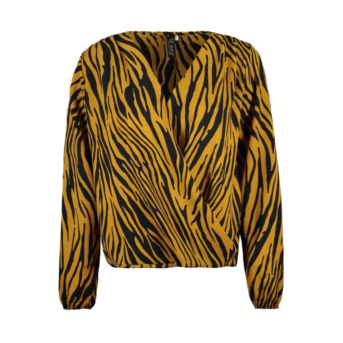 3557 blouse overslag iz naiz blouse oker