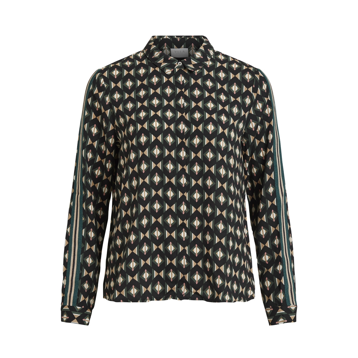 viretro l/s shirt 14051286 vila blouse garden topiary/grafic