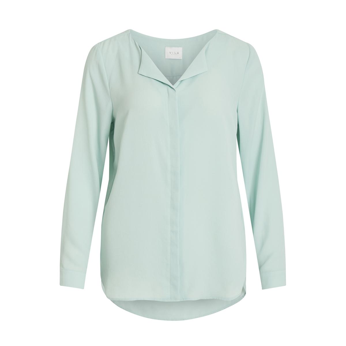 vilucy l/s shirt - noos 14044253 vila blouse blue haze
