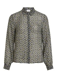 viselana l/s shirt 14052169 vila blouse navy blazer/flower print