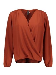 3557 blouse overslag iz naiz blouse roest plain