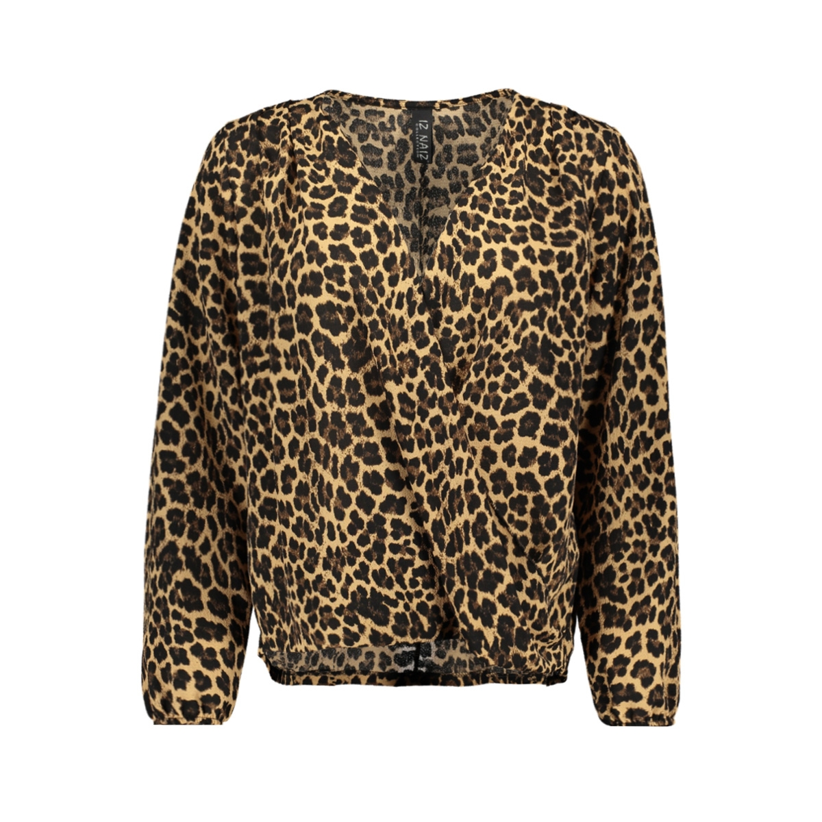 3557 blouse overslag iz naiz blouse panter print sand