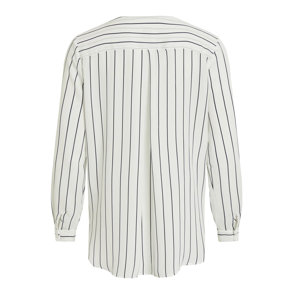 vilucy l/s shirt - noos 14044253 vila blouse snow white/total eclipse