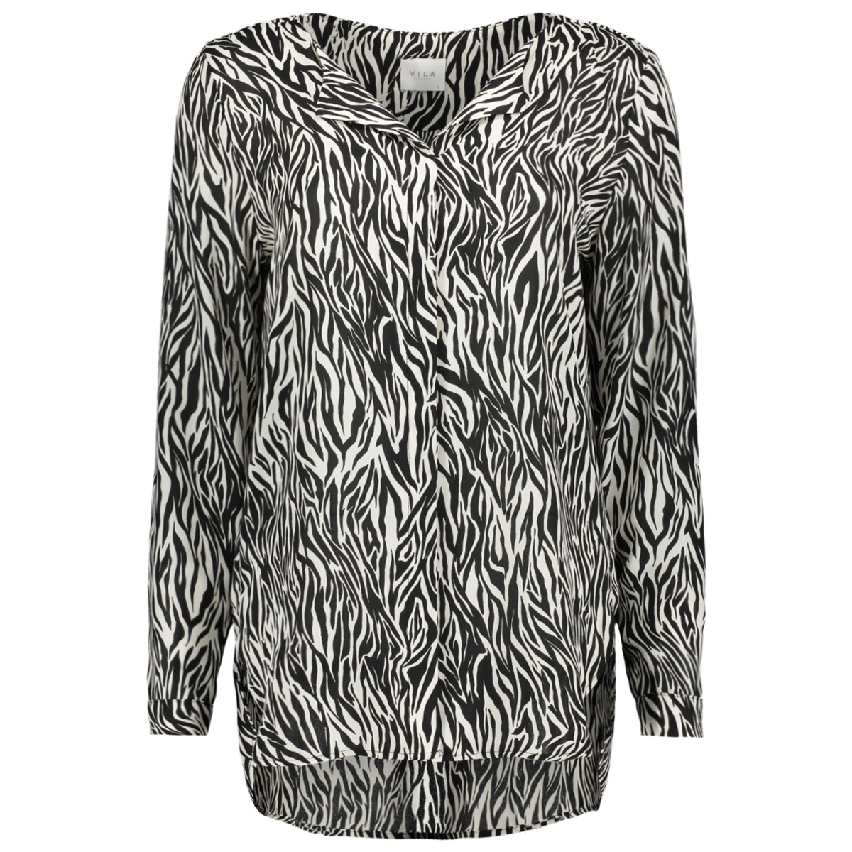 vilucy l/s shirt - fav lux 14049450 vila blouse cloud dancer/zeena