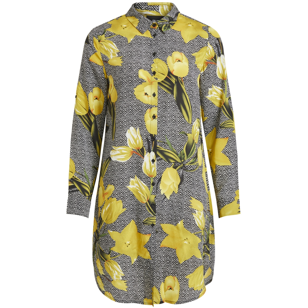 objmari l/s casey shirt 101 23029043 object blouse black/graphic w.