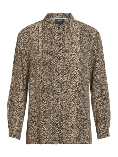 objleo l/s shirt 102 23028812 object blouse black/black leo