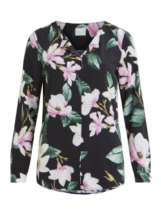 Vila Blouse VILICIA L/S SHIRT 14052718 Black/FLOWER