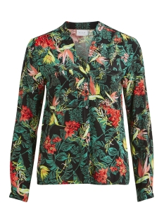 virenata amazonas l/s shirt 14051741 vila blouse black/amazonas print