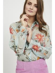 vinovea iliane l/s shirt 14050811 vila blouse blue haze/iliane print