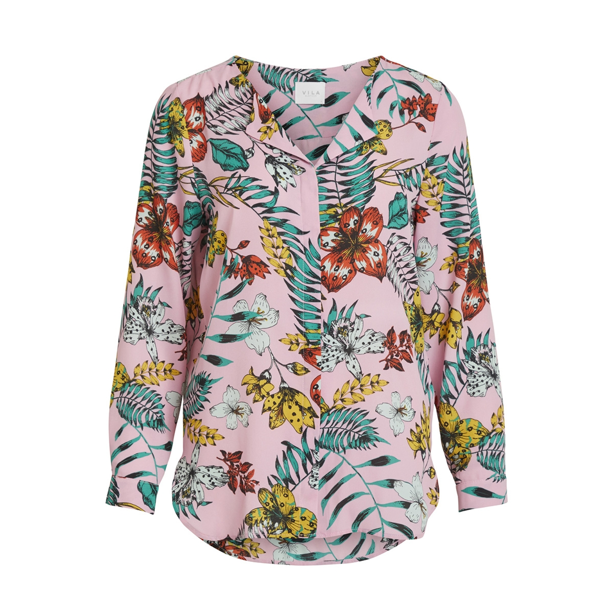 vilucy l/s shirt - fav lux 14049450 vila blouse begonia pink/monaria