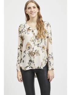 vilucy l/s shirt - fav lux  14049450 vila blouse silver peony/lunaria