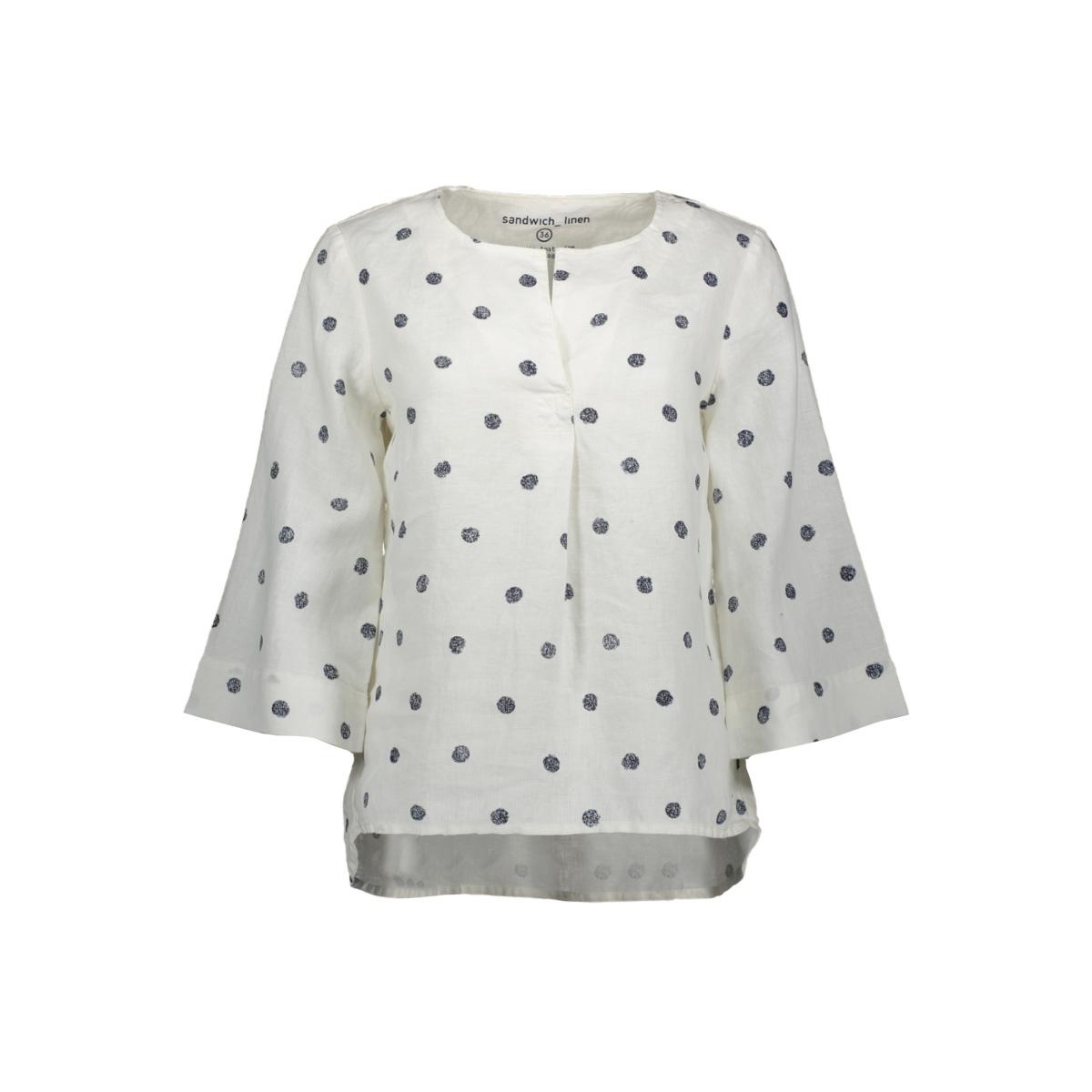 top met stippen 22001623 sandwich blouse 10055