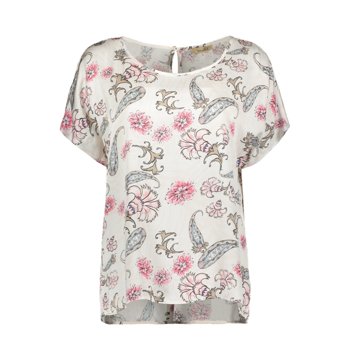 blouse allover print 0319 0533 smith & soul blouse 5594 blush colorful