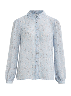 vifora l/s shirt 14053048 vila blouse powder blue