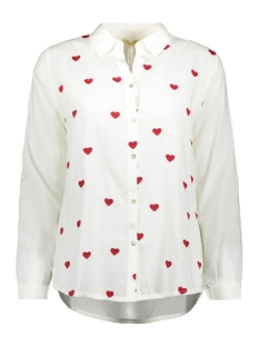 Key Largo Blouse HEART BLOUSE WB00042 OFF-WHITE