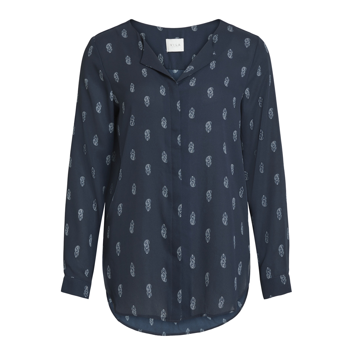 vilucy l/s shirt - fav lux 14049450 vila blouse total eclipse