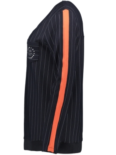 pinstripe blouse hr1924 zoso sweater navy/orange