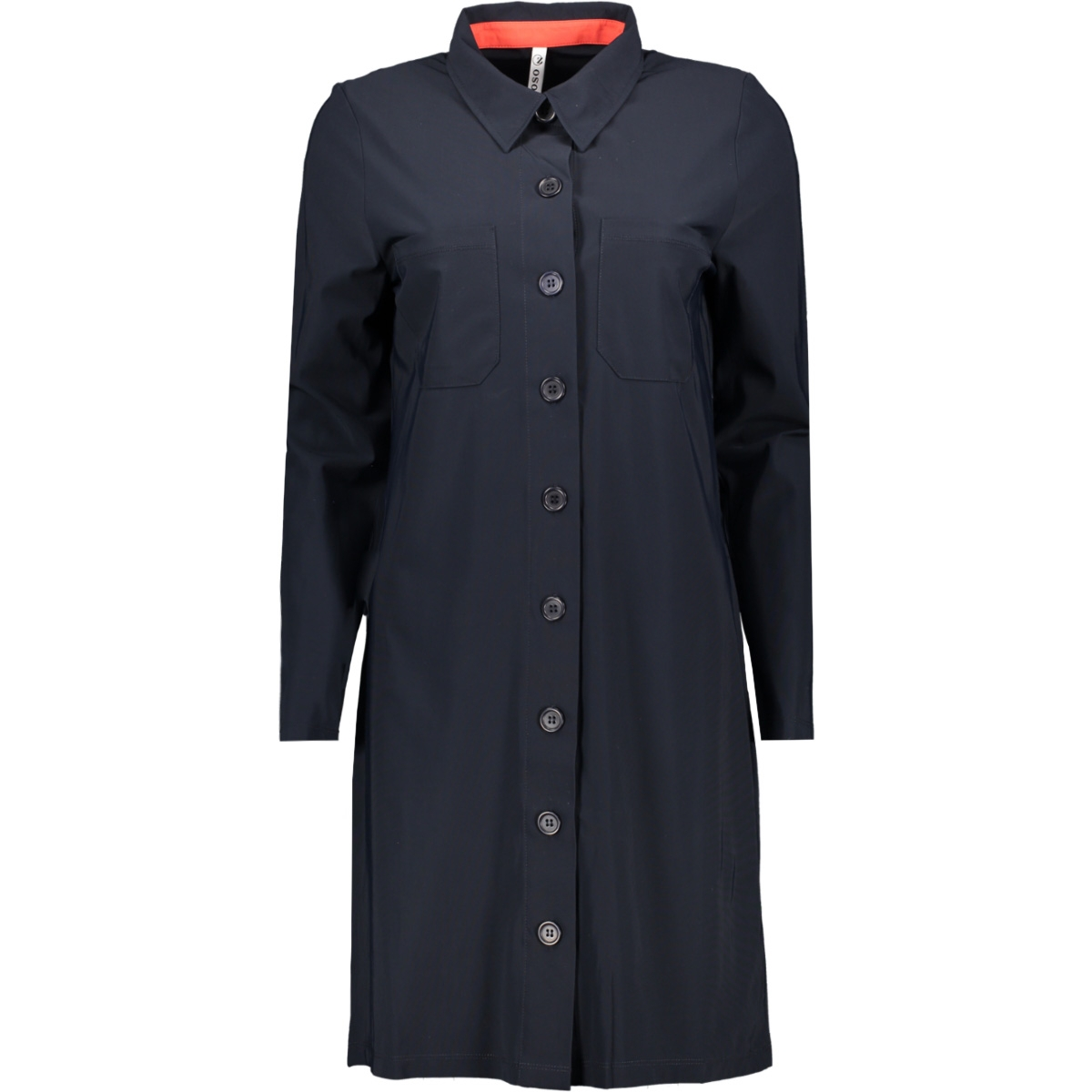travel long blouse hr1935 zoso jurk navy/orange red