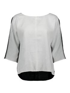 colour block blouse met striksluiting 22001663 sandwich blouse 10058