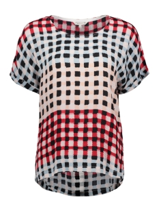multi coloured geruite top 22001678 sandwich t-shirt 20145