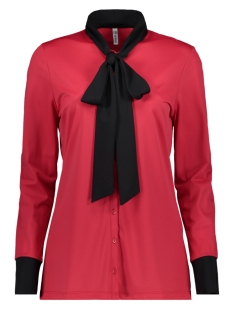 Zoso Blouse MILAN TRAVEL BOW BLOUSE RED/BLACK