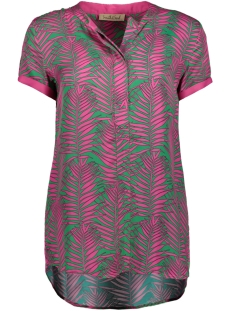blouse roundneck 0319 6024 smith & soul blouse 5596 green/pink