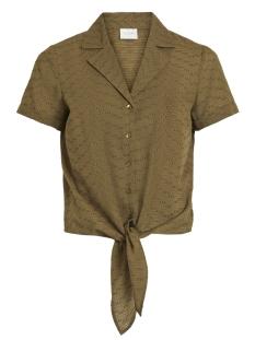 vibarbra s s shirt tb ki 14052531 vila blouse dark olive