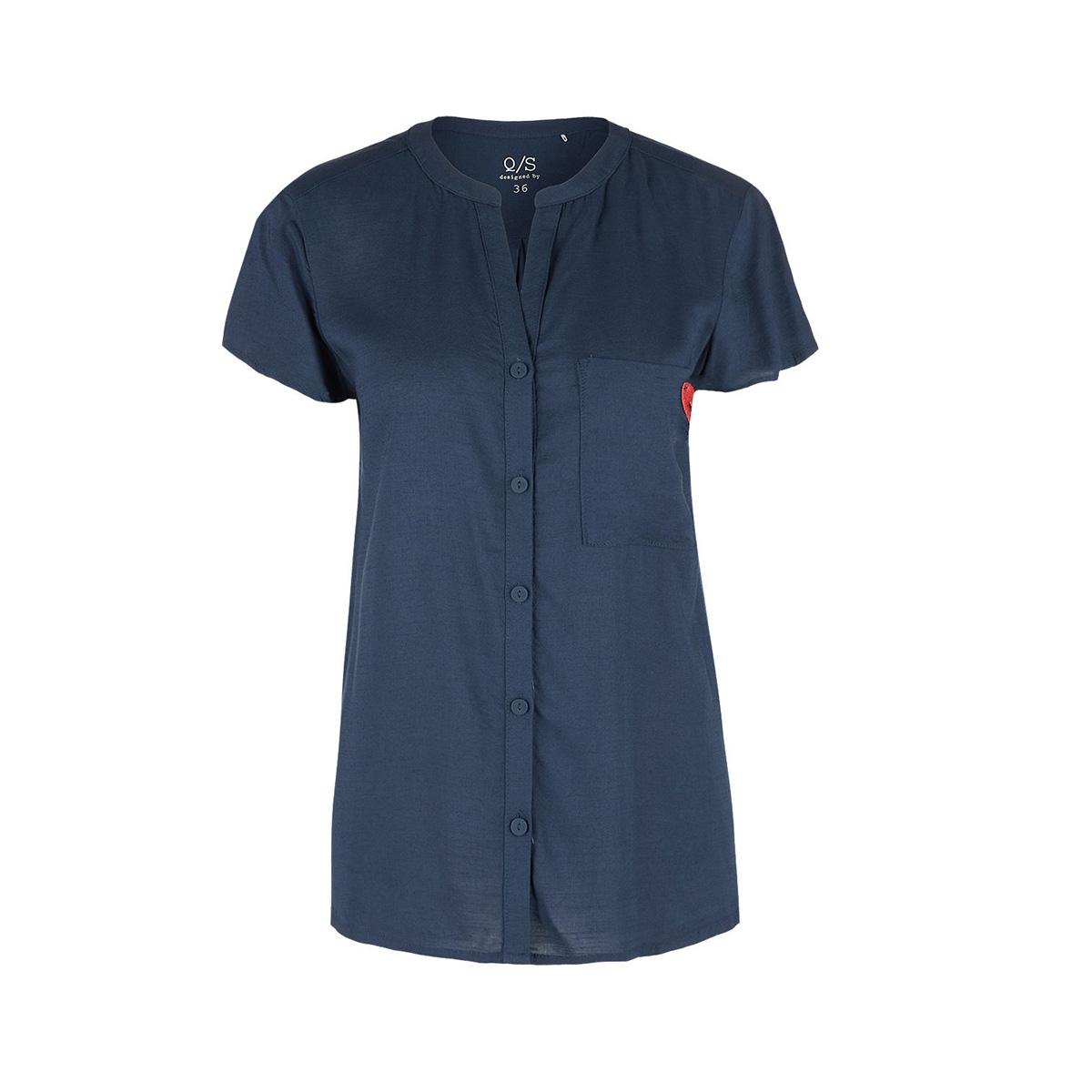 blouse met borstzak 41904127685 q/s designed by blouse 5865